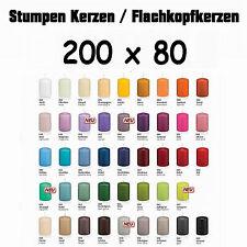 6 Stumpen Kerzen 200x80mm 1.Wahl Qualität / Kerzen Wiedemann / neue Farben 2016