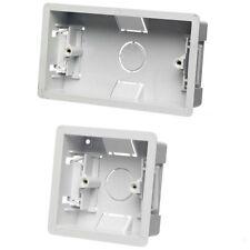 Dry Lining Back Box Flush Wall 1 or 2 Gang Electrical Socket Switch B25 B26