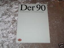 Prospekt Audi 90 Typ 89 - Ausgabe 1988