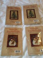 Punchneedle Embroidery Kits Midnight Snowman PNK9205 Pine Tree PNK9305