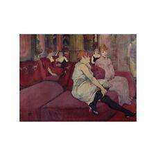 Quadro su Pannello in Legno MDF Henri Toulouse-Lautrec In the Salon at the Rue d