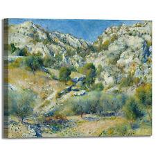 Renoir picchi rocciosi design quadro stampa tela dipinto telaio arredo casa