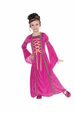 Child Hot Pink Velvet Princess Medieval Renaissance Costume