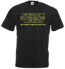 Da Uomo Nera Mischia Guerre Rugby T-Shirt Divertente 6 NAZIONI T-shirt da nerd