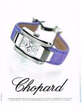 PUBLICITE ADVERTISING  2002     CHOPARD montre femme                      130113