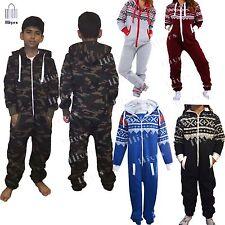 Kids jumpsuit Youth Boys Army Hooded Camouflage One piece Pyjamas unisex 1-13