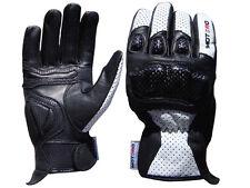 Motorcycle Motorbike Short Leather Carbon Kevlar Knuckle Gloves