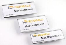 Hochwertiges Namensschild aus eloxiertem Aluminium Metall extra starker Magnet