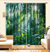3D Bananenblätter 7 Blockade Foto Vorhang Druckvorhang Vorhänge Stoff Fenster DE