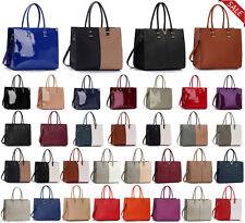 Ladies Designer Handbag Faux Leather Tote New Women Celebrity Shoulder Bag Large