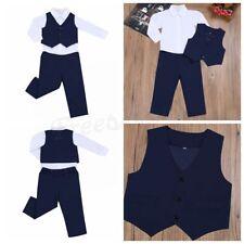 3Pcs Kids Baby Boys Gentleman Long Outfits Waistcoat+ Shirt+ Pants Clothes Sets