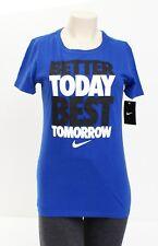 Nike Blue Better Today Best Tomorrow Short Sleeve T Tee Shirt Women's NWT