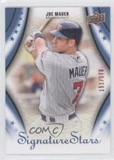 2009 Upper Deck Signature Stars Clover Blue #59 Joe Mauer Minnesota Twins Card