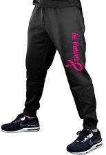 Men's Be Braver Jogger pants sweatpants fitted Breast Cancer Awareness Hope V388
