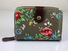 Quality Ladies Floral Print Oil Cloth  women's short zip purse wallet coin fit