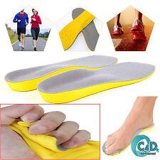 Espuma De Memoria Unisex Ortopédico Zapato Almohadillas talón Plantillas Confort entrenador Pie Pies
