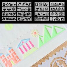 8Pcs Bullet Journal Stencil Set Plastic Planner DIY Drawing Template Diary