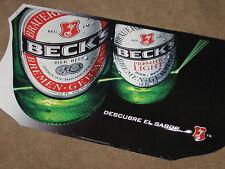 New Becks Beer Bottles Tin beer sign pub bar game room cerveza Key Pool Holland