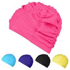 Unisex Waterproof Long Hair Drape Elastic Swimming Cap Hat Dreadlocks Swim US