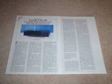 Sansui SE-88 Equalizer Review, 1986,2 pgs, Full Test