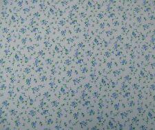 Wall Flower blu in policotone stampa Craft / Abito tessuto Gratuito P+P venduto al metro