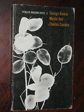 Penguin Modern Poets 3 G.Barker M.Bell Charles Causley