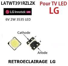 20x LED SMD 3535, 6V 2w REPARACIÓN ILUMINACIÓN DE FONDO TV LG INNOTEK. BACKLIGHT