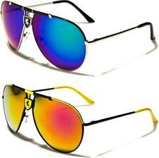 Nuevas Gafas de Sol Negro para Hombre Deportivos Diseñador Aviador De Metal Retro Para Dama Con Espejo Grande