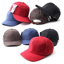 Unisex Mens Womens Solid Color Plain Melange Baseball Cap Strapback Trucker Hats