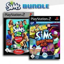 PS2 / Playstation 2 - Die Sims 2 - Haustiere + Die Sims brechen aus (mit OVP)