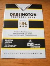13/02/1990 Darlington v Boston United [Last Non-League Season Darlington] . No o