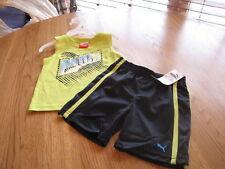 Boy Baby Puma t shirt  shorts set sleeveless active 12M 12 months outfit