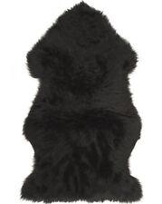 Lambland British Premium Quality Large Genuine Sheepskin Rug in Black