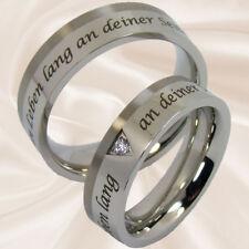 Trauringe Hochzeitsringe Verlobungsringe Edelstahl und Titan mit Gravur