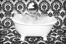 Damask Photography Backdrop 5ft x 9 ft Black White Background Photo Shoot studio