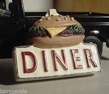 Diner Sign Miniature 3 Dimensional 1/24 Scale G Scale Diorama Accessory Item