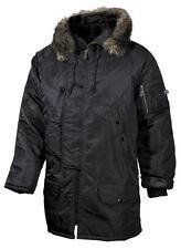 MFH polar chaqueta n3b caballeros chaqueta anorak invierno chaqueta Parka chaqueta negro S-XXL