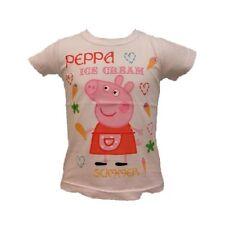 T-Shirt Bambina Peppa Pig, Maglietta a Maniche corte Bimba Bianca *16155
