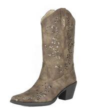 Roper Western Boots Womens Alisa Glitter B Brown 09-021-1556-0773 BR