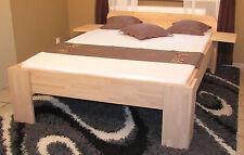 Massivholzbett Fuß I Kopfteil abgerundet Einzelbett Doppelbett Ehebett Bett 27mm