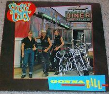 THE STRAY CATS BRIAN SETZER & SLIM JIM PHANTOM SIGNED GONNA BALL ALBUM w/PROOF