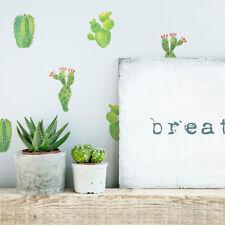 36 Aufkleber Kaktus Sukkulenten DIY Wandtattoo Sticker Pflanzen Grün Tattoo Deko
