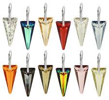 Sterling Silber Ohrringe mit Original SWAROVSKI 6480 Spitze 28mm Kristalle