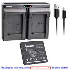 Kastar Battery Dual Charger for Panasonic DMW-BCF10E & Panasonic Lumix DMC-TS4