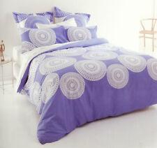 Vermont Blue Quilt Doona Duvet Cover Set Reversible Bedding Modern Blue White