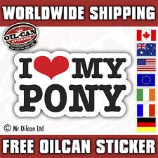 I love my pony car sticker 150mm x 65mm