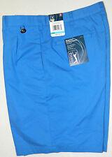 Pga Tour Precision Performance Golf Short Gripper Waistband Blue Angel Size 36 W