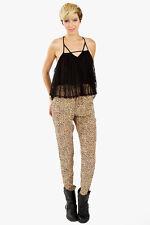 NEW Sugar Lips Sugarlips Wild Thing Leopard Drawstring Pants Sizes XS S M L