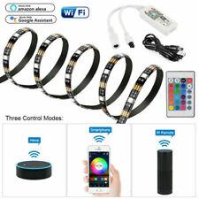 5V USB LED Strip TV Back Light 5050 SMD RGB Colour Changing wifi Alexa Remote