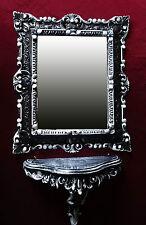 2´ ER Set Console miroir en noire / Blanc Baroque mural + 44x38